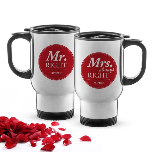 Thermobecher Set personalisiert Mr and Mrs Right