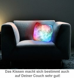 led kissen mondlicht flauschiges licht sorgt f r gem tlichkeit. Black Bedroom Furniture Sets. Home Design Ideas