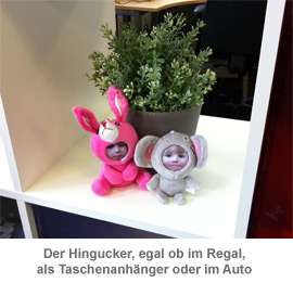3D Foto-Puppen im Regal