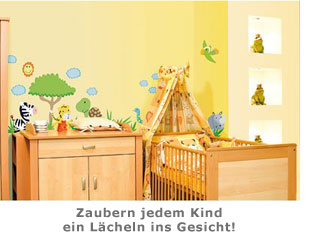 kinder wandtattoos afrika sorgen f r abwechslung im kinderzimmer. Black Bedroom Furniture Sets. Home Design Ideas
