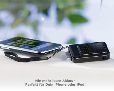 Mini Solarladeger�t f�r iPhone und iPod