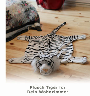 Pl�sch Tigerfell Bettvorleger