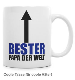 tasse bester papa auf der welt sch ne geschenkidee f r v ter. Black Bedroom Furniture Sets. Home Design Ideas