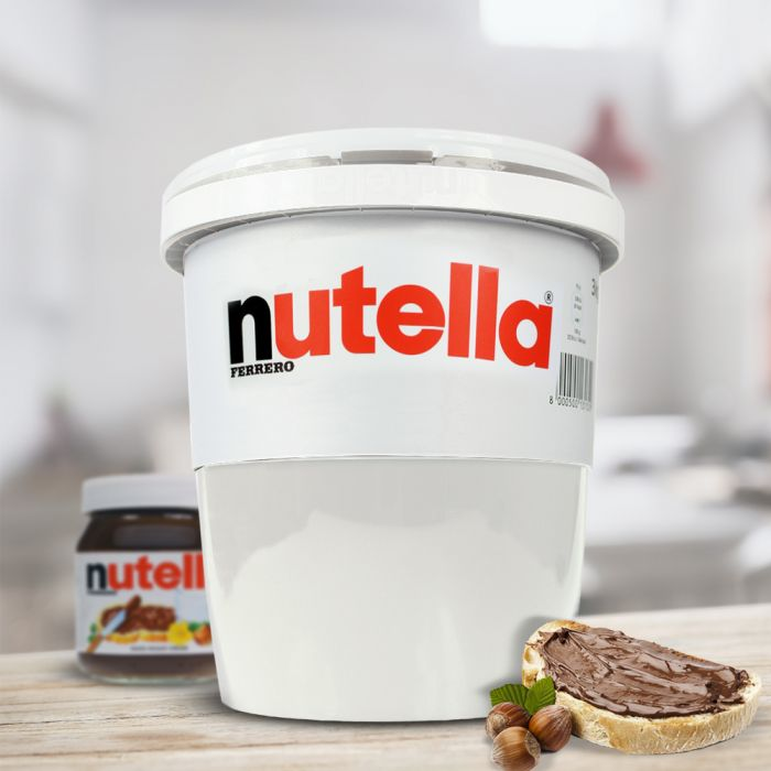 riesen nutella glas 3kg im xxl eimer das original von ferrero. Black Bedroom Furniture Sets. Home Design Ideas