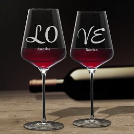 Weingl�ser Love - 2er Set